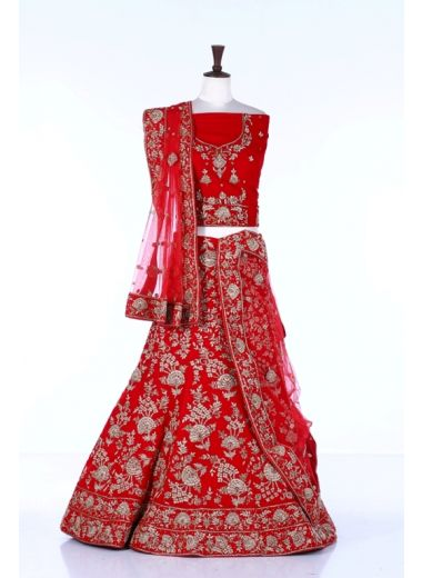 Neeru's Red Color Lehnga Set